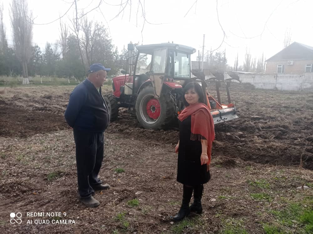 В Буденовской средней школе Ысык-Атинского района начались весенние работы